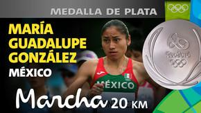 Rio 2016: María Guadalupe González (México) Plata en Marcha 20km